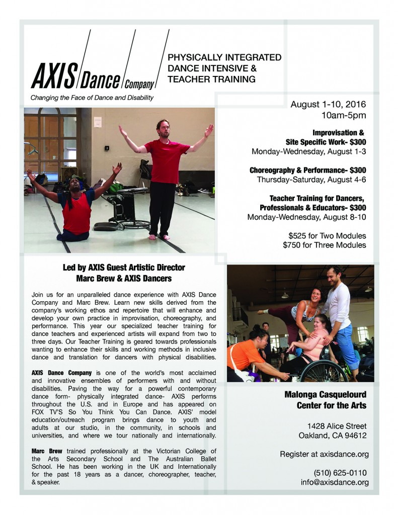 2016 Summer Intensive Flyer